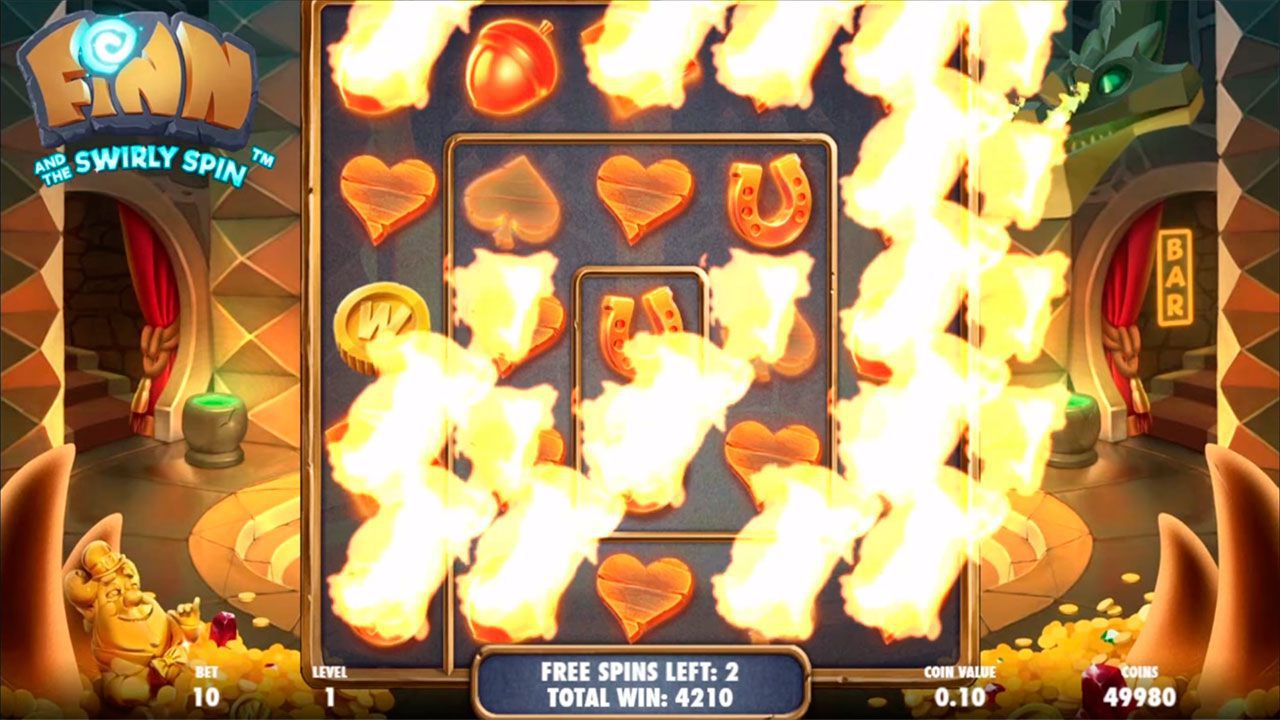 Игра Lava Lair Free Spins в слоте Finn and the Swirly Spin