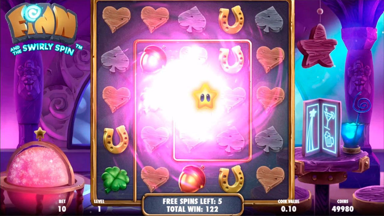 Игра Star Bar Free Spins в слоте Finn and the Swirly Spin