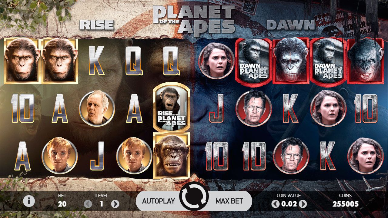 PLANET OF THE APES ИГРОВОЙ АВТОМАТ LUCKY
