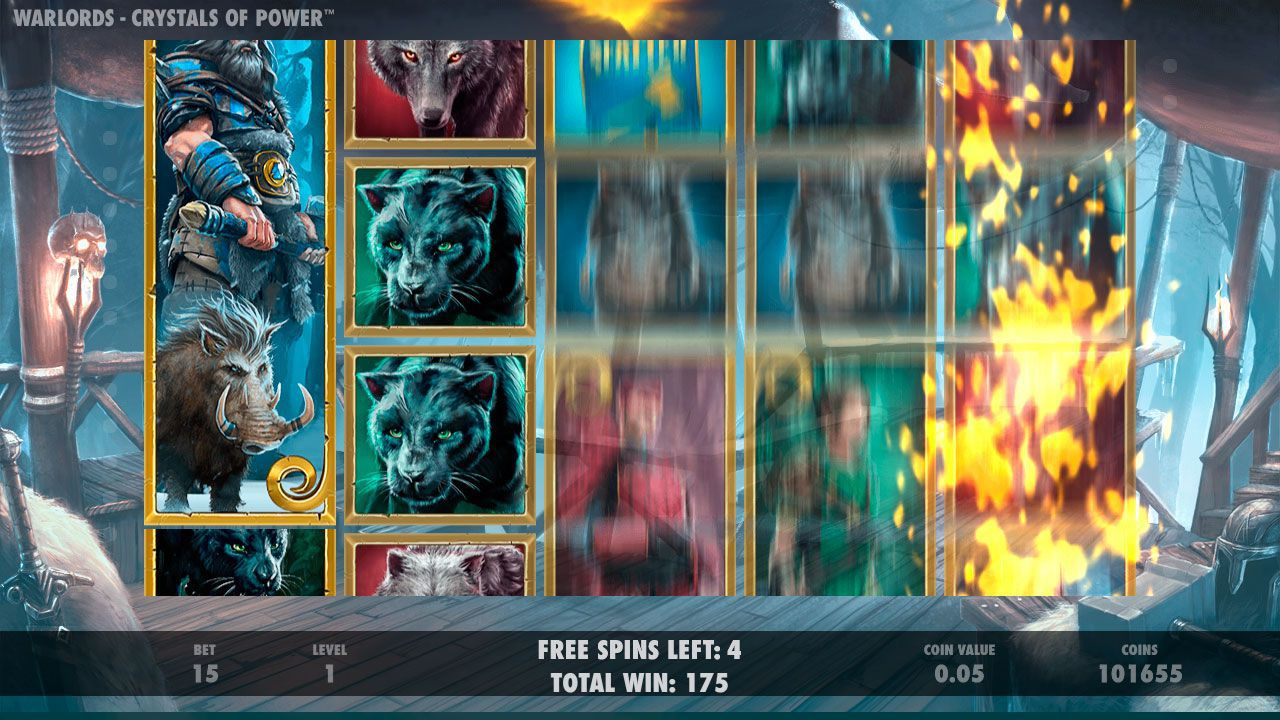 Barbarian Free Spins в игровом автомате Warlords: Crystal of Power