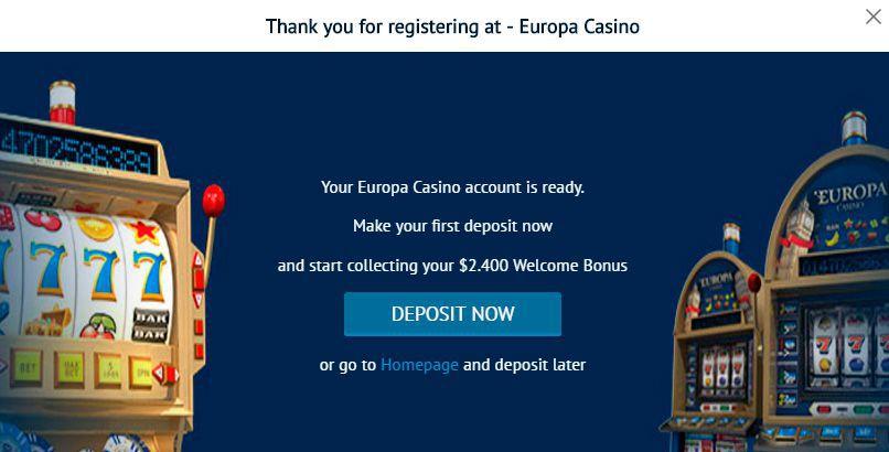 Регистрация в казино европа казино сочи официальный видео