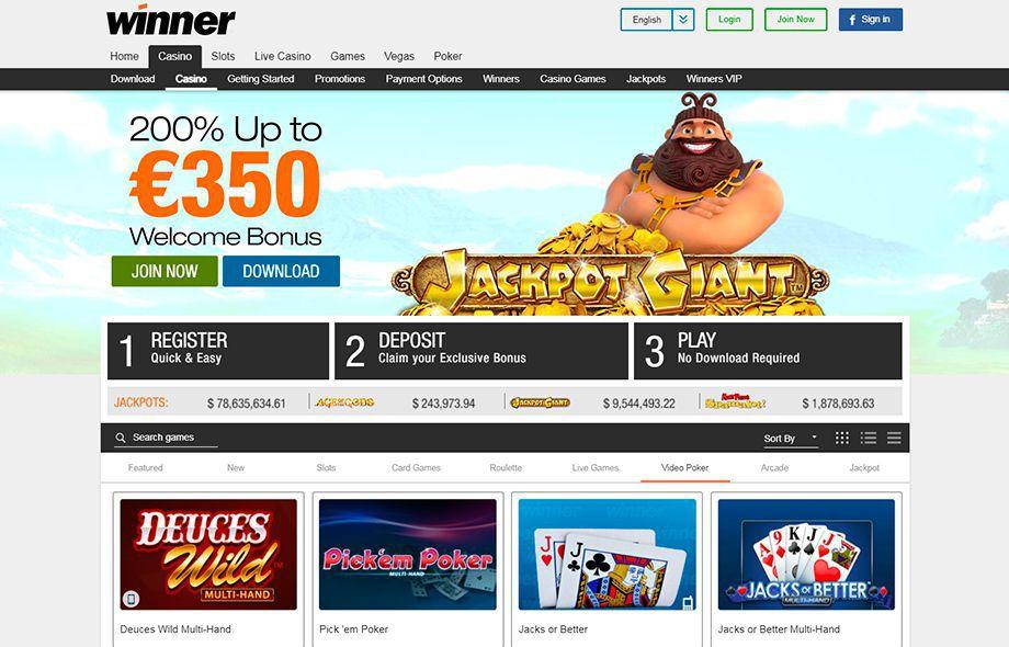 Winner казино вход игровые автоматы пополнение смс украина